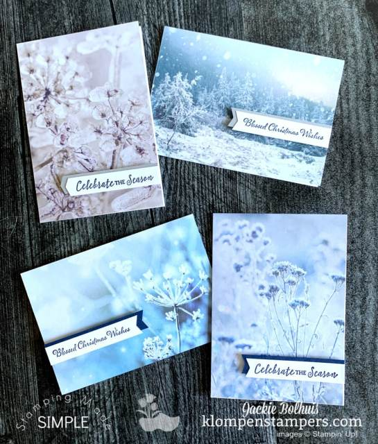 These creative note cards can be made quickly with a pack of note cards and envelopes by Stampin' Up!