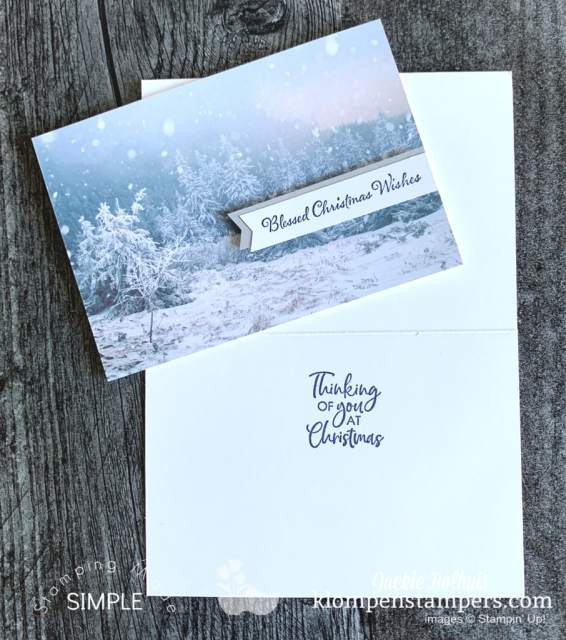 Need some creative note cards to send out this Christmas? The Feels Like Frost designer paper is the star of these cards.