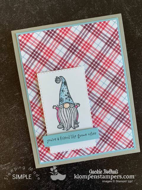 I love the Gnome for the Holidays stamp set for DIY Christmas cards that are cute.