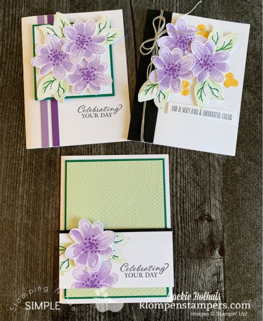 The Stampin' Up! Gorgeous Posies stamp set and project kit makes card making simple