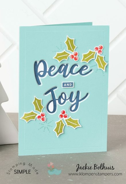This Christmas card is simple to make.