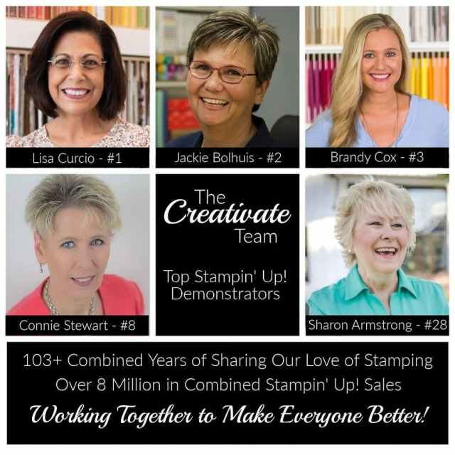 Online Stamping Retreat led by 5 top Stampin' Up! demonstrators