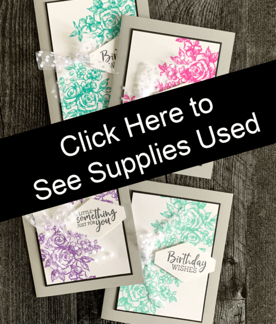 Click here for supplies used on these simple cards.