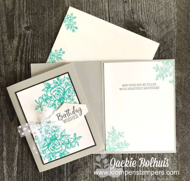 Don't forget to stamp the inside of your simply DIY cards for that extra special touch!