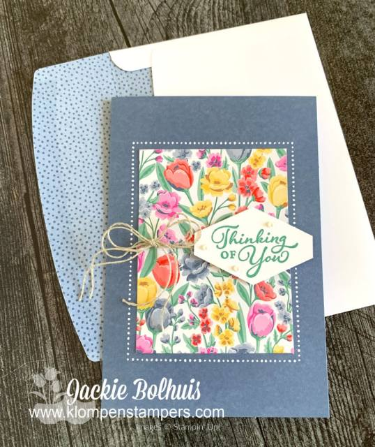 Need a 'Thinking of you' card you can make fast? The Happy Thoughts Stampin' Up! set is your go-to stamp set.