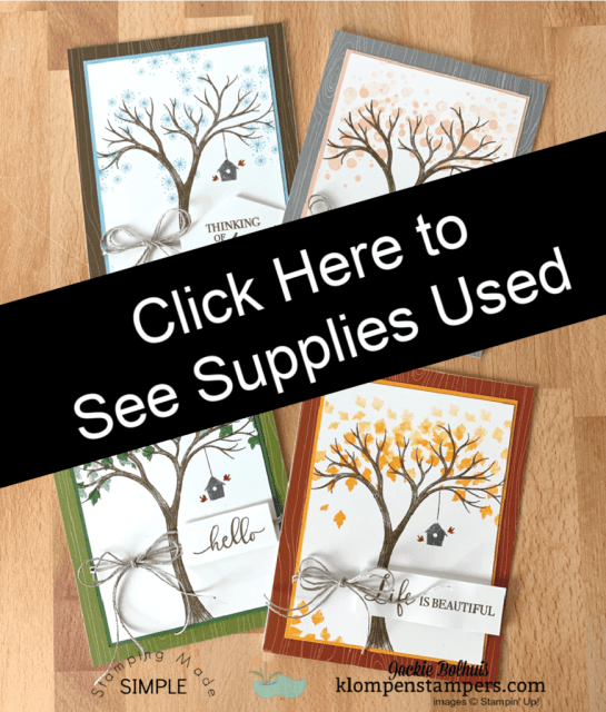Click here to see the supplies used for easy card making with the life is beautiful stamp set.