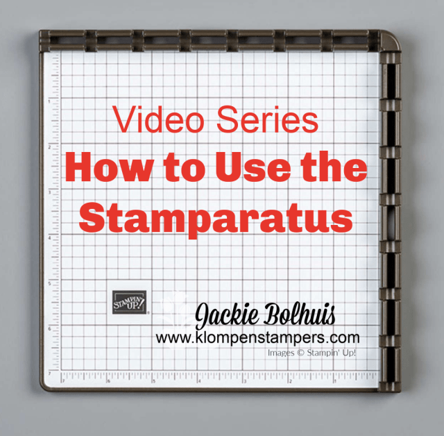 Video series on how to use the stamparatus for easy card making