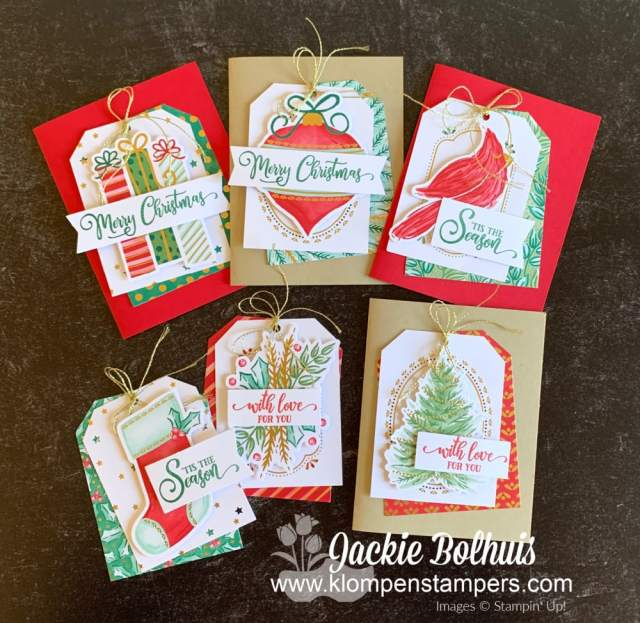 Christmas tags you can DIY with an easy kit - the Stampin' Up! Tag Buffet Project Kit