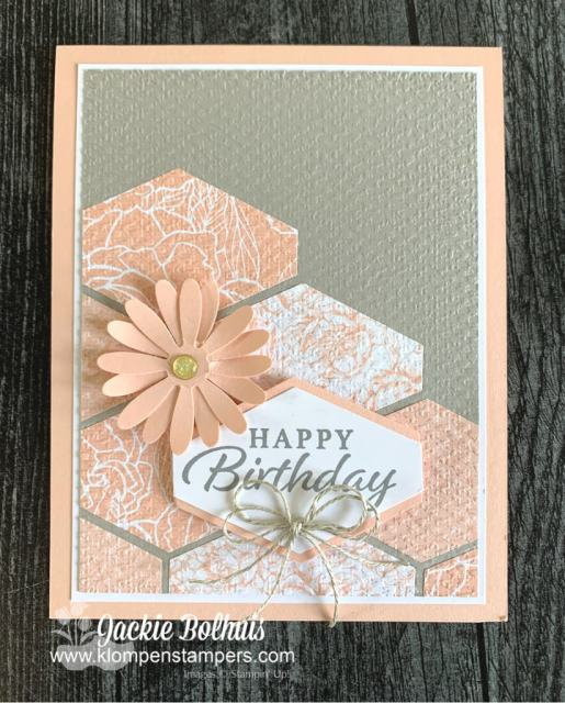 The best craft punch makes the prettiest Happy Birthday card!
