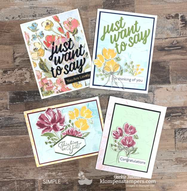 From the best fun fold to the prettiest florals you'll love the handmade cards the Fine Arts Floral collection makes.