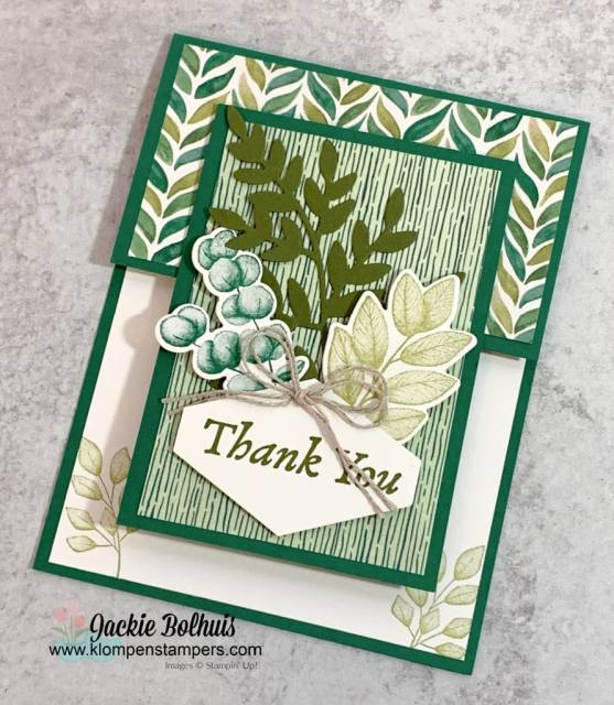 The easiest fun fold template can be used to make beautiful cards like this DIY Thank You card!