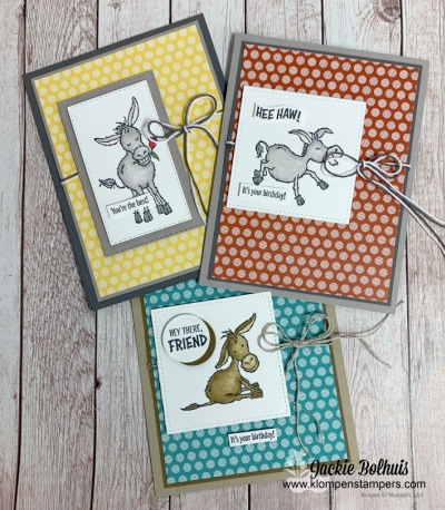 How to Use Stampin' Blends to Make Adorable Greeting Cards | Darling Donkeys