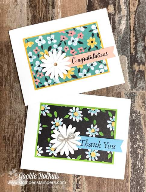 More awesome handmade cards to showcase with this floral paper