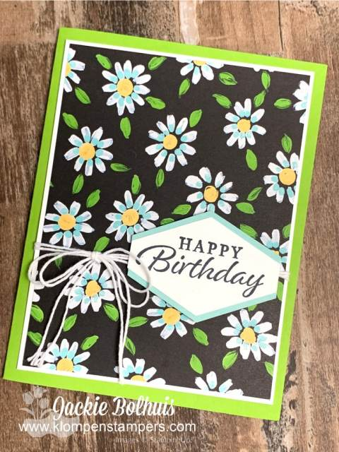 This floral designer paper is perfect as an awesome happy birthday card
