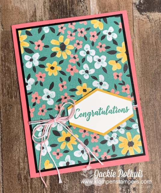 Awesome handmade cards are super easy when you've got scrapbook paper that's so beautiful