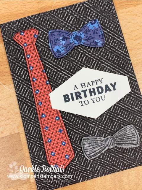 This is a handsomely suited birthday card your Dad will love.