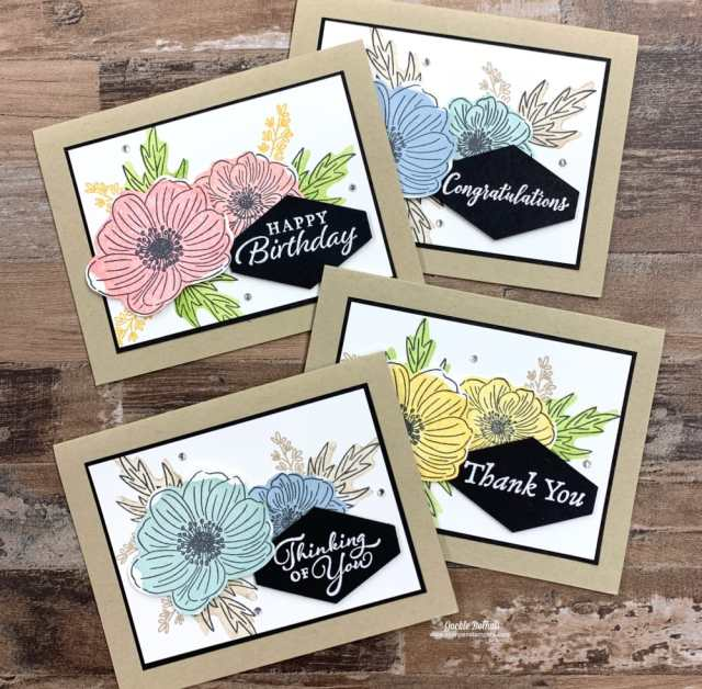 I can't wait to show you how these new reversible stamps make cards for all occasions. Stampin' Up! Back to Back Blooms