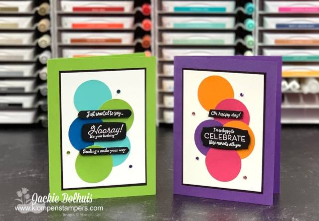I love showing you how to make simple cards with some bright, fun cardstock colors and one stamp set.