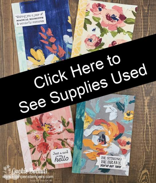 Click here to view supply list for these simple cards.
