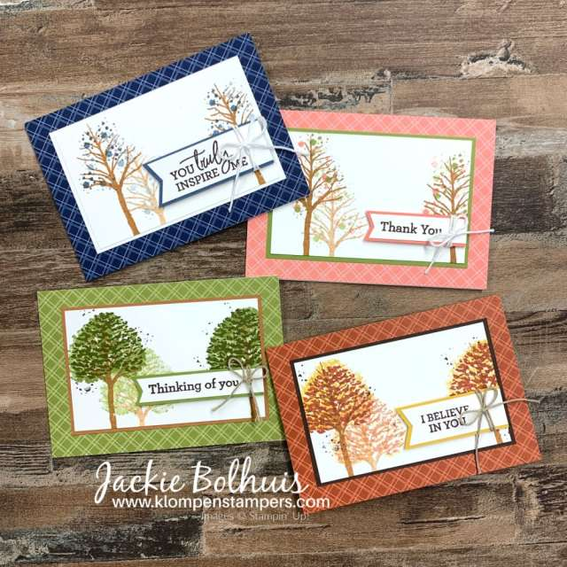 These are more handmade cards for men using the 'Beauty of Friendship' stamp set focused on stamping only; no die cutting.