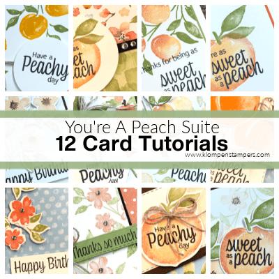 Sweet as a Peach Card Making Tutorial Fun: A Time Limited Offer