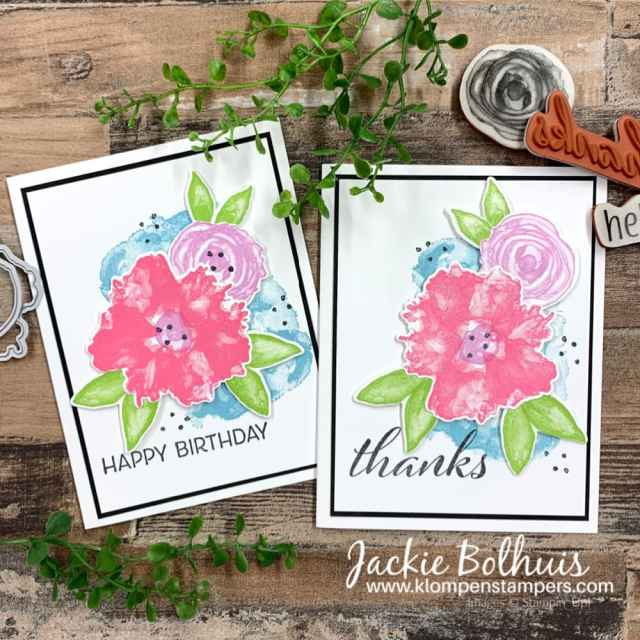 Simple stamped cards begin with rubber stamps that are easy to use like the Artistically Inked by Stampin' Up!