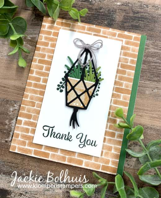 You can make a thank you card with lots of depth and dimension using the die cuts.