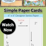 Card Sketches with Measurements   Simple Paper Cards