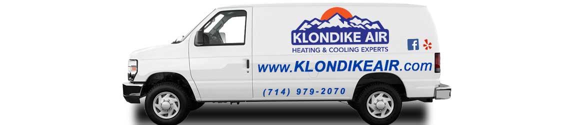 Klondike Air Conditioning Heating Orange County CA van