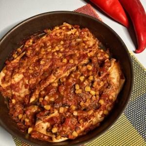 Kukuruz Pelat Beli luk Paprika Mozzarella Tortilje Balzamiko Brašno Taco začin