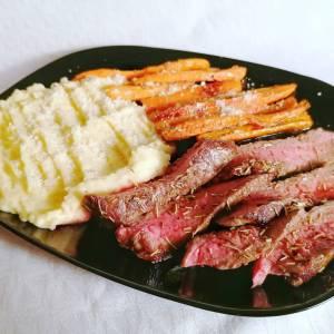 dry aged rozbratna ruzmarin pire krompir zapečena šargarepa