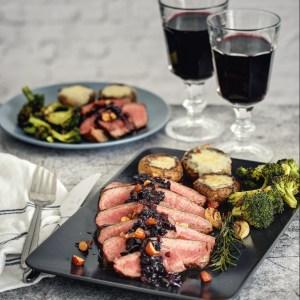 Dry aged rozbratna Brokoli Pečurke Crni luk Rendada mocarela Puter Suve šljive Crno vino Origano Ruzmarin