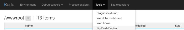 Tools Zip Push Deploy