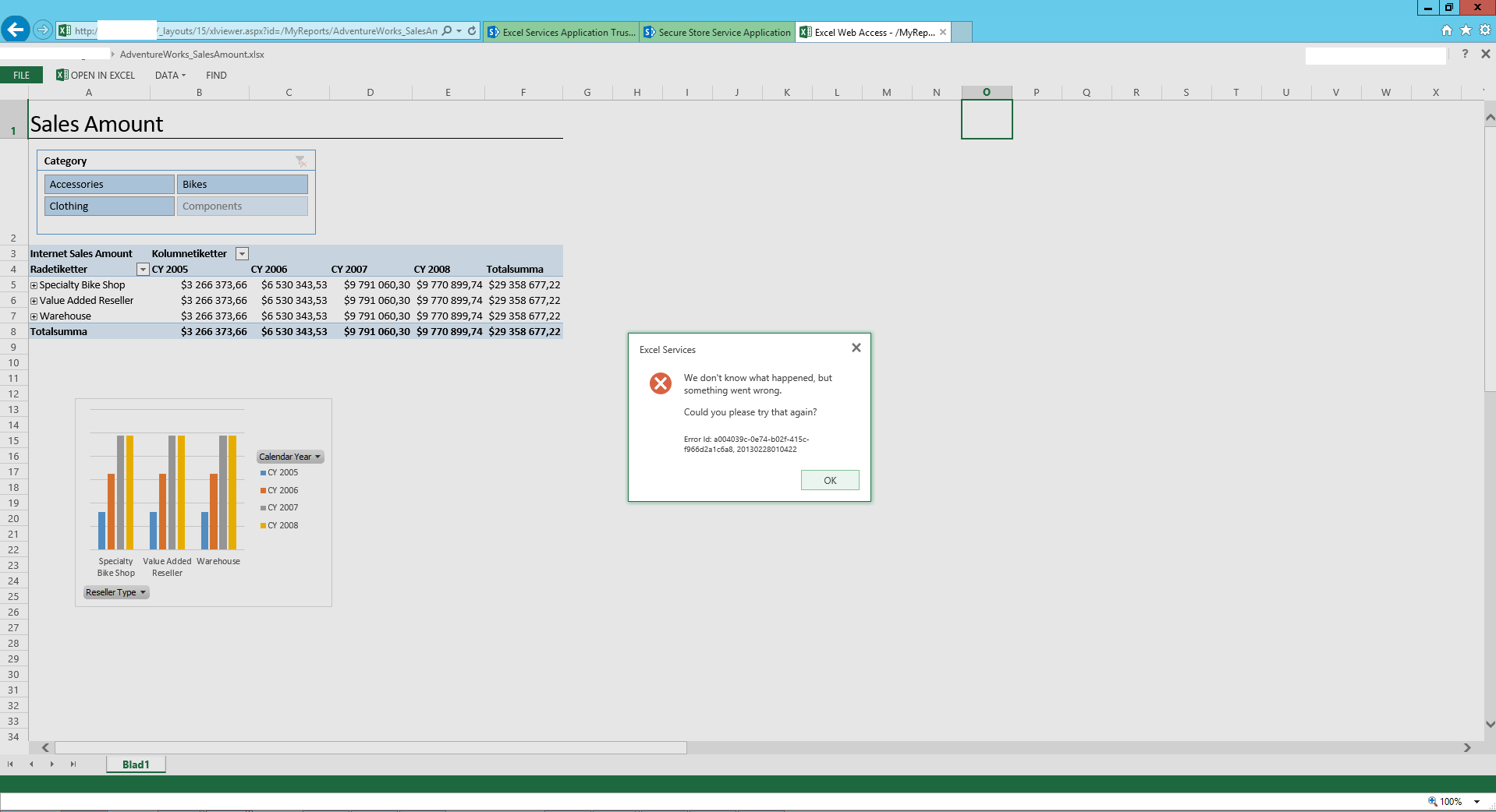 Sharepoint Excel Services Error When Changing Locale