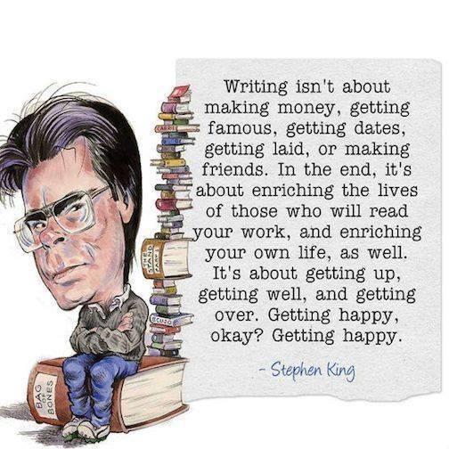 Stephen King's Philosophy on Writing...