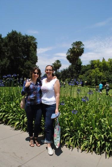 Taisiya and Sara at Huntington Gardens