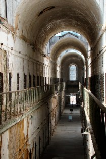 Hallway in the abandoned Eastern State Penitentiary, Philadelphia, PA