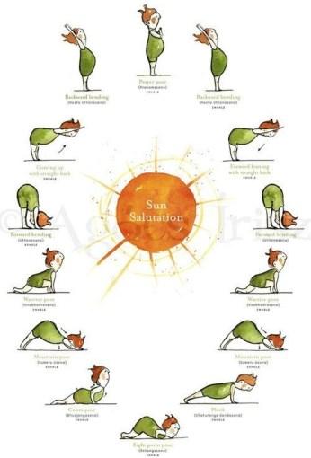 sun salutations