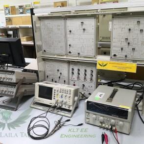 Oscilloscope, Function Generator, Power supply & Communication System Tranining Board