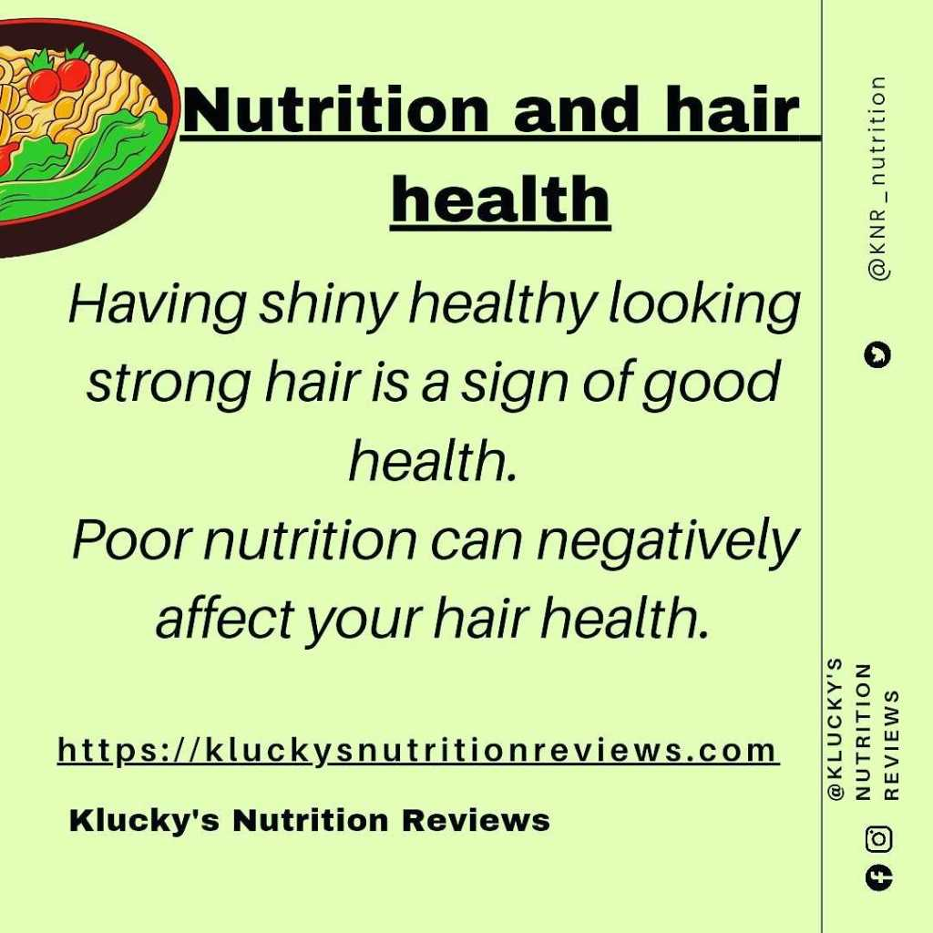Graphic: Having healthy looking hair is a sign of good health.