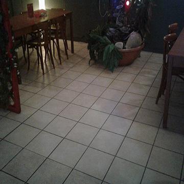 Vloerrenovatie in een restaurant