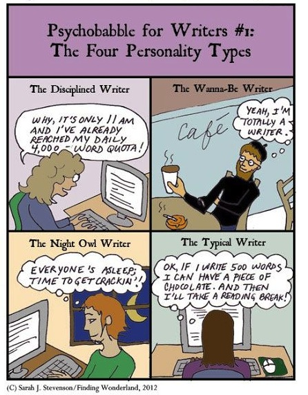 The Four Types of Writing Personalities Every Writer Becomes