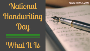 national handwriting day via klwightman.com