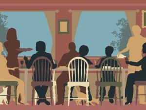 Party Conversation Illustration via NPR
