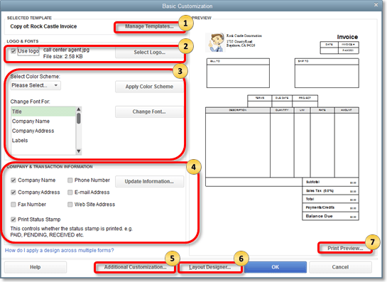 Use And Customize Form Templates Quickbooks Community