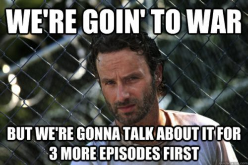 Deconstructing The Walking Dead Meme There Is No Wifi In A