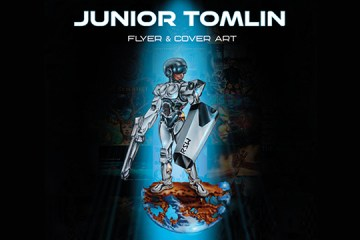 Junior Tomlin Flyer & Cover Art book cover