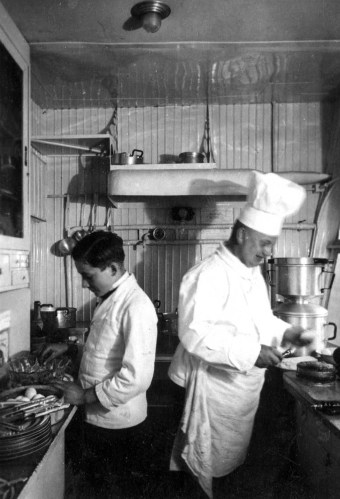 Kitchen onboard the Graf Zeppelin.