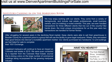 Denver Real Estate Investors Marijuana