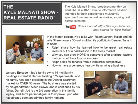 Real Estate Investors Interviewed by Kyle Malnati